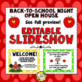 Back-to-School Night or Open House Editable Powerpoint Presentation