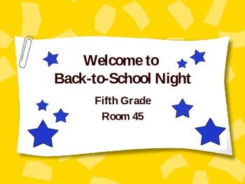 Back to School Night ppt