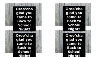 Back to School Night treat tags