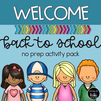 Back to School - No Prep Activities