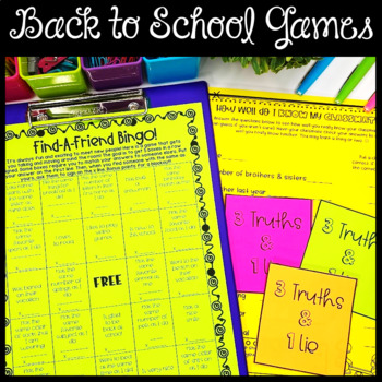 40+ Back to School No Prep Activities