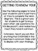 Back to School No Prep FREEBIE: Building Classroom Community