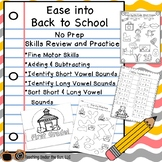 Back to School No Prep Math and Phonics Activities