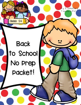 Back to School No Prep Packet