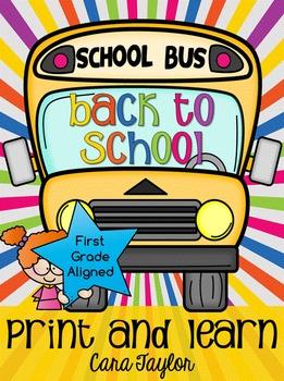 Back to School No Prep Printables August