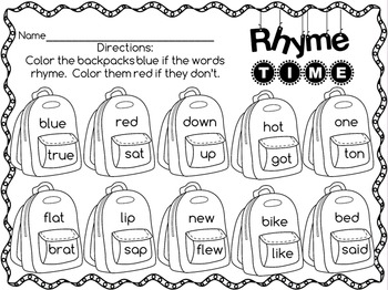Beginning of the Year No Prep Printables First Grade