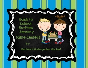 Back to School No-Prep Sensory Tub Centers