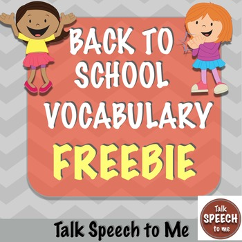 Back to School No Prep Vocabulary Freebie!