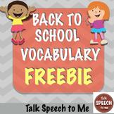 Back to School No Prep Vocabulary Freebie!