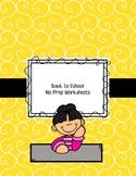 Back to School No Prep Worksheets