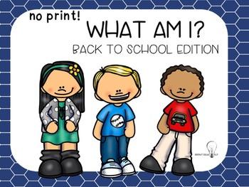 Back to School No Print Language