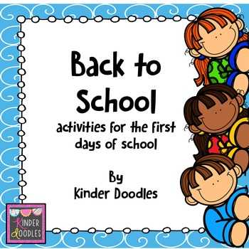 Back to School ~ No-prep activities for the first days