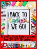 Back to School - Nonfiction Close Reading