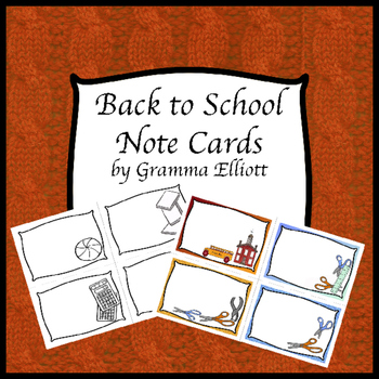 Back to School Note Cards