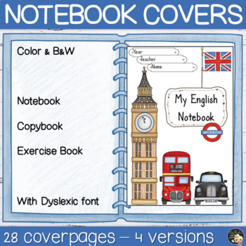 Back to School Notebook Coverpages