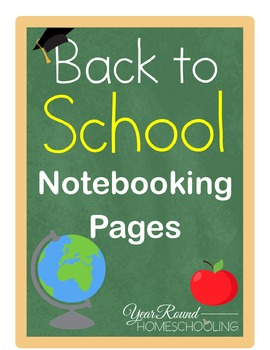 Back to School Notebooking Pages