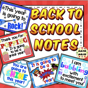 Back to School Notes - Freebie