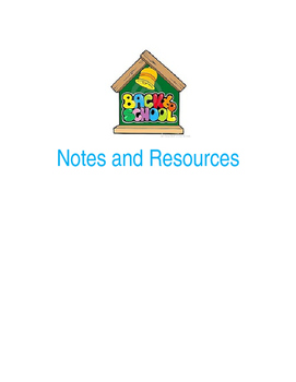 Back to School Notes and Resources