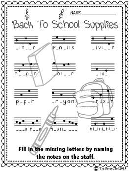 Back to School Notespeller