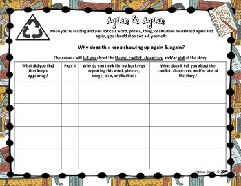Back to School Notice & Note Graphic Organizers
