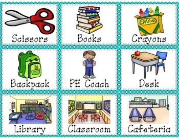 Back to School Noun, Verb and Adjective Sort
