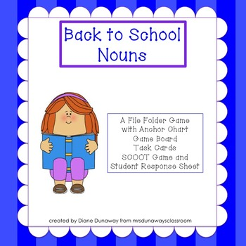Back to School Nouns: a file folder game
