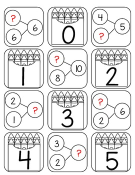 Back to School Number Bond Games (Numbers 0 - 10)