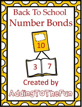 Back to School Number Bond Worksheets