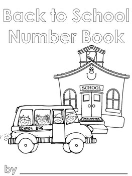 Back to School Number Book
