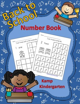 Back to School Number Book (Tracing and Writing Numerals to 10)