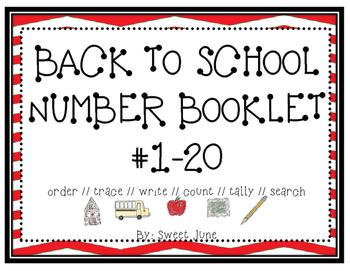Back to School Number Booklet