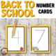 Back to School Number Cards 0 to 9 for Math Centers or Hands-on Activities