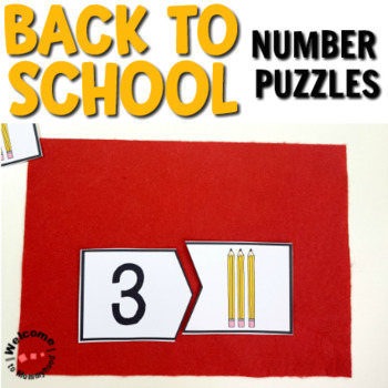 Back to School Number Cards for Math Centers or Summer Activities