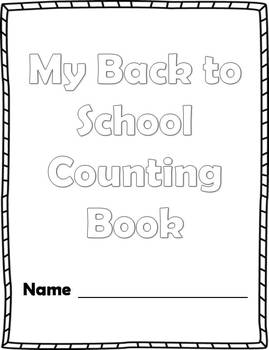 Back to School Number Counting Book 1-10 Printable