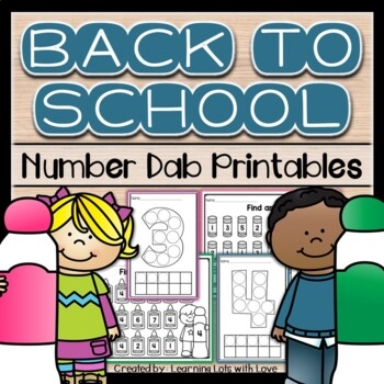 Back to School Number Dab