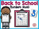 Back to School Number Hunt