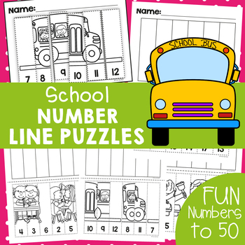 Back to School Number Line Puzzles