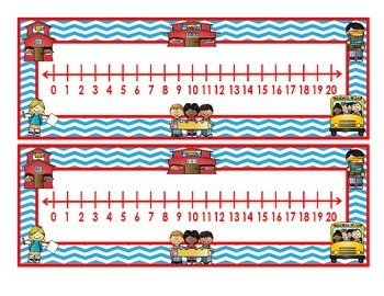 Back to School Number Lines