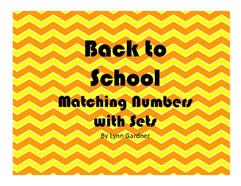Back to School Number Match