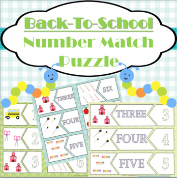 Back to School Number Match Activity