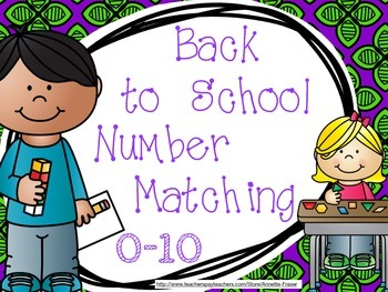 Back to School Number Matching