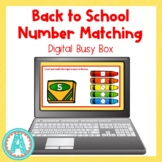 Back to School Number Matching Digital Busy Box for Distan