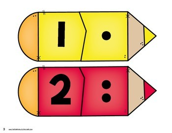 Back to School Number Matching - Kindergarten Math Centers