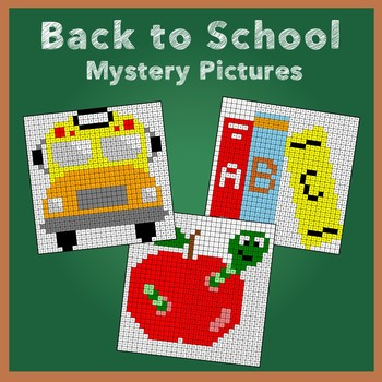 Back to School Number Names Mystery Pictures