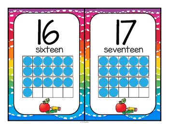 Back to School Number Posters FREE