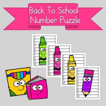Back to School Number Puzzle 1-10