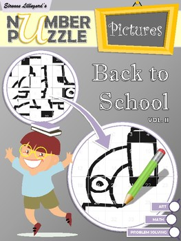 Back to School Number Puzzle Pictures Volume II