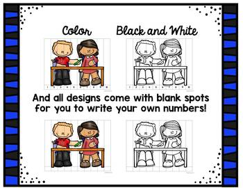 Back to School Number Puzzles