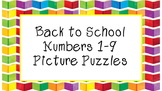 FREEBIE Back to School Number Puzzles