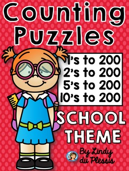 Number Puzzles: Numerals 1-200 Back to School for 1st and 2nd Grade